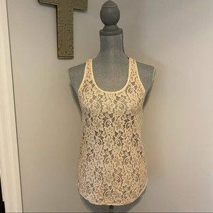 Wilfred by Aritzia antique lace Racerback tank